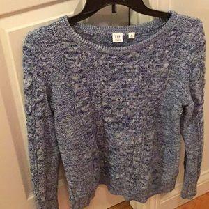 Gap heather blue sweater